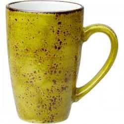 Кружка «Крафт Эппл»; фарфор; 285мл; D=7, H=11, L=11см; желто-зел.
