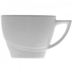 Чашка чайная «Атлантис»; фарфор; 180мл; D=85, H=68, L=100, B=85мм; белый