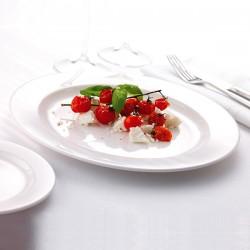 Блюдо овальное «Монако»; фарфор; H=18, L=340, B=260мм; белый