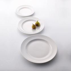 Блюдо овальное «Монако»; фарфор; H=9, L=200, B=150мм; белый