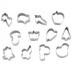 Набор кондитерских форм Paderno [12шт]; D=120, H=23мм;