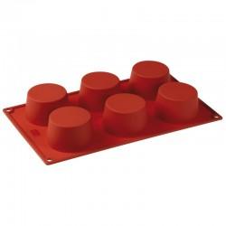 Форма кондитерская «Тарталетка» 6 ячеек; силикон; D=70, H=37, L=295, B=175мм;