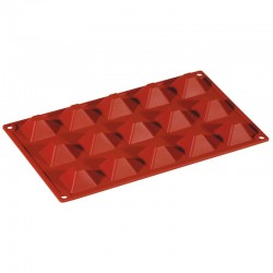 Форма кондитерская «Пирамида» 3.6*3.6см; силикон; H=15, L=295, B=175мм;