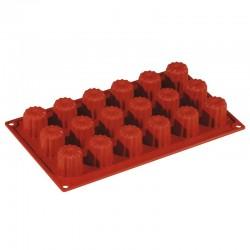 Форма «Мини-каннеле» 18 ячеек; силикон; D=35, H=35, L=295, B=175мм;