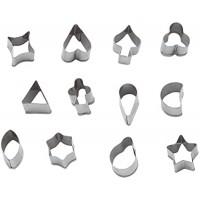 Набор кондитерских форм[12шт]; H=2см;